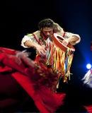 qiang китайского танцора этническое стоковые изображения rf