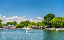 Qianhai lake in Shichahai area of Beijing Royalty Free Stock Photography