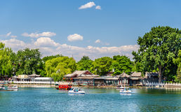 Qianhai lake in Shichahai area of Beijing Stock Photo