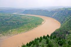 Qiankun krökning av Yellow River royaltyfri bild