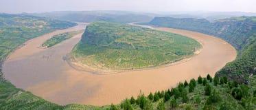 Qiankun krökning av Yellow River arkivbild