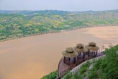 Qiankun krökning av Yellow River royaltyfri fotografi