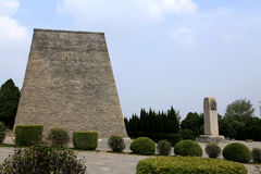 Qianling Mausoleum in Xian city. The Qianling Mausoleum is a Tang Dynasty (618–907) tomb site located in Qian County, Shanxi province, China.It includes stock photo