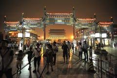 Qianmen is beroemdste de poorttoren van Peking Royalty-vrije Stock Afbeeldingen