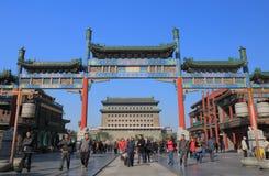Qianmen bramy architektury Pekin dziejowa porcelana zdjęcia royalty free