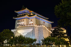 Qianmen-The Front Gate at night, Beijing in China Stock Image