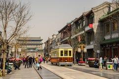 Qianmen gata i Peking, Kina Arkivfoton