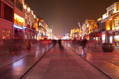 Qianmen Street, Beijing, China Royalty Free Stock Photography