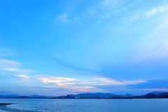Qiantang River in the evening Stock Photo
