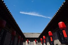 The Qiao's Family Compound in Pingyao Ancient City. Part view The Qiao's Family Compound Stock Images