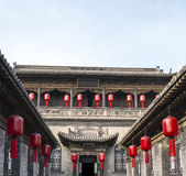 Qiao familjborggård i Pingyao Kina #3 Royaltyfri Bild