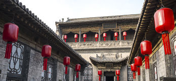 Qiao familjborggård i Pingyao Kina #4 Royaltyfria Foton