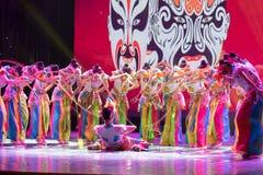 Qiao Hua Danï ¼ ˆcombinationï ¼ ‰ - aalrol in Chinese opera-Chinese klassieke dans stock afbeelding