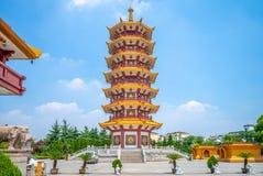 Qibao świątynia przy qibao antycznym miasteczkiem w Shanghai Zdjęcie Stock