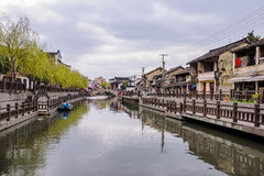 Qibao ancient town on a cloudy day Stock Images