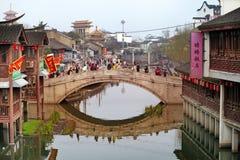 QiBao gammal stad, Shanghai Royaltyfri Foto