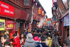 QiBao gammal stad, Shanghai Arkivbild