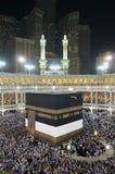 Qibla全世界伊斯兰教的Ummah 免版税库存图片
