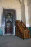 Qibla墙壁在乌兹别克斯坦 库存图片