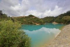 Qicaihu επτά λίμνη χρώματος Στοκ Εικόνες
