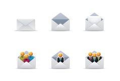 Qicon | Graphismes 2 de courrier Images libres de droits