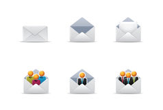 Qicon   Mail icons 2 Royalty Free Stock Images