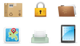 Qicon Web icons 6 Stock Photos