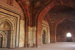 Qila-i-kuna Mosque, Purana Qila, New Delhi Stock Photos