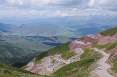 qilian山圈子高速公路 库存图片