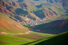Qilian-Berglandschaften Stockbilder