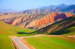 Qilian berglandskap Arkivfoto