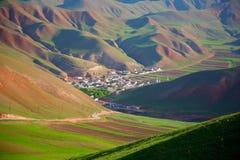 Qilian berglandskap Arkivbilder