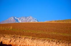 Qilian berglandskap Arkivfoton