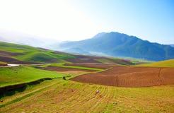 Qilian berglandskap Arkivbild