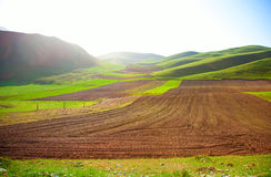 Qilian mountain landscapes. Qilian mountains is one of the major mountain range in China, is located in the northeast of qinghai province and gansu province in Royalty Free Stock Image