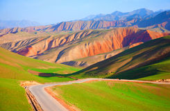 Qilian mountain landscapes. Qilian mountains is one of the major mountain range in China, is located in the northeast of qinghai province and gansu province in Stock Photo