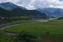 Qilian mountain plateau scenery Royalty Free Stock Photo