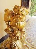 Qilin asian mythological golden statue Royalty Free Stock Images