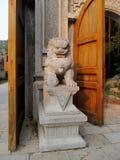 Qilin asian mythological marble statue Stock Image