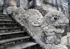 Qilin asian mythological statue Stock Images