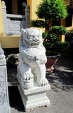 Qilin asian mythological statue. In the yard of pagoda. Chinese and vietnam ancient mythological magic creature. a mythical hooved chimerical creature in stock image