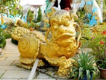 Qilin azjatykcia kolorowa mitologiczna statua Zdjęcie Royalty Free