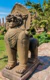 Qilin azjatykcia mitologiczna statua w Tajlandia buddyjskiej świątyni Zdjęcie Royalty Free