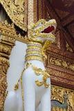 Qilin azjatykcia mitologiczna statua w Tajlandia buddyjskiej świątyni Obrazy Royalty Free