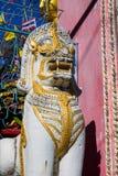 Qilin azjatykcia mitologiczna statua w Tajlandia buddyjskiej świątyni Obraz Royalty Free