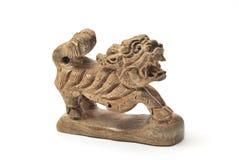 Qilin de madera Imagen de archivo libre de regalías