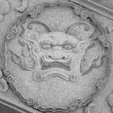 Qilin (Kylin, Chinese unicorn) carving at temple Royalty Free Stock Images