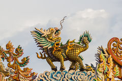 Qilin. This pphoto are Chinese Qilin taken at Chinese temple in Thailand Royalty Free Stock Photos