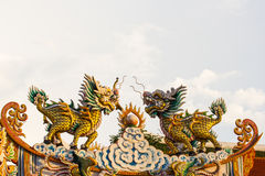 Qilin. This pphoto are Chinese Qilin taken at Chinese temple in Thailand Royalty Free Stock Images