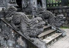 Qilins asian mythological stone statue Royalty Free Stock Photography